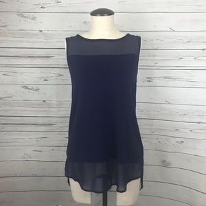 Vince Camuto Navy Blue Sleeveless Top